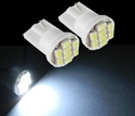 Picture of 2*WHITE T10 8 SMD LED WEDGE LIGHT BULBS