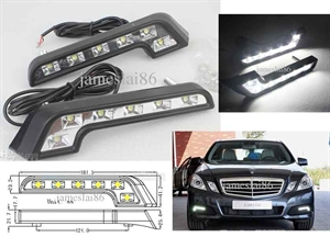Picture of L type 6 LED daytime running lights Mercedes-Benz