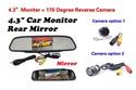 "Picture of 4.3"" Mirror Monitor + 170degree reverse camera"