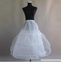 Picture of 3 hoop 2 layer White Wedding Petticoat Underskirt
