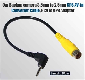 Car Backup Camera Rca 3 5mm To 2 5mm Gps Av In Converter Cable Gps