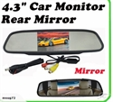 """Picture of Car 4.3"""" LCD Mirror Monitor 12V/24V"""